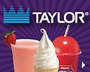 Taylor logo with cone, slushy and smoothie