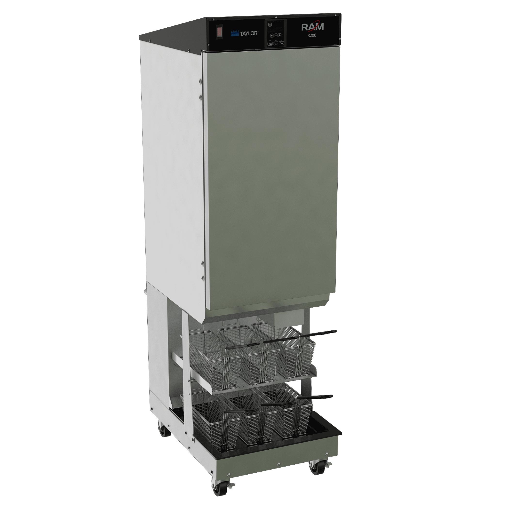 A French fry dispenser equipment