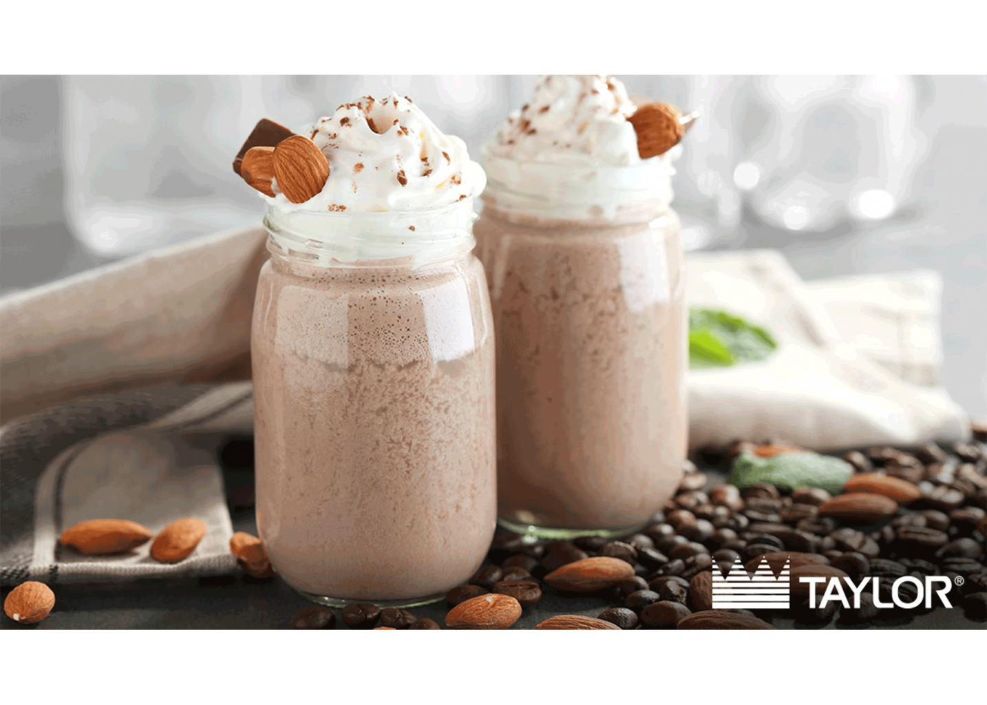 A Taylor milkshake with coffee, almonds and chocolate