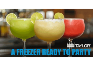 pictures of margaritas with Taylor logo