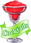 A cocktail with text