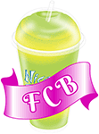 A FCB cup with text