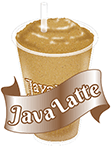 A Java Latte with text no background