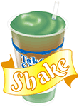 A shake image with text