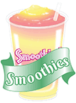 A smoothie image with text