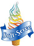 A soft serve image with text