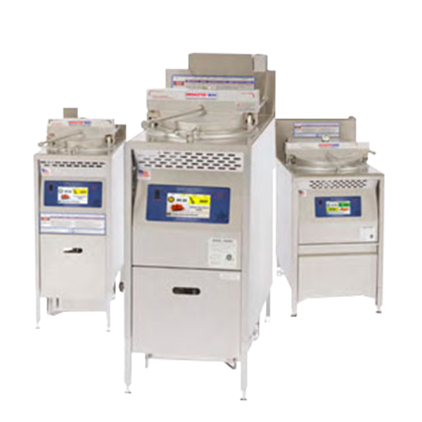 Three Broaster pressure fryer equipment sizes