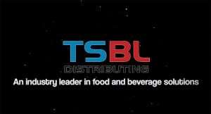 A TSBL Logo with black background and text