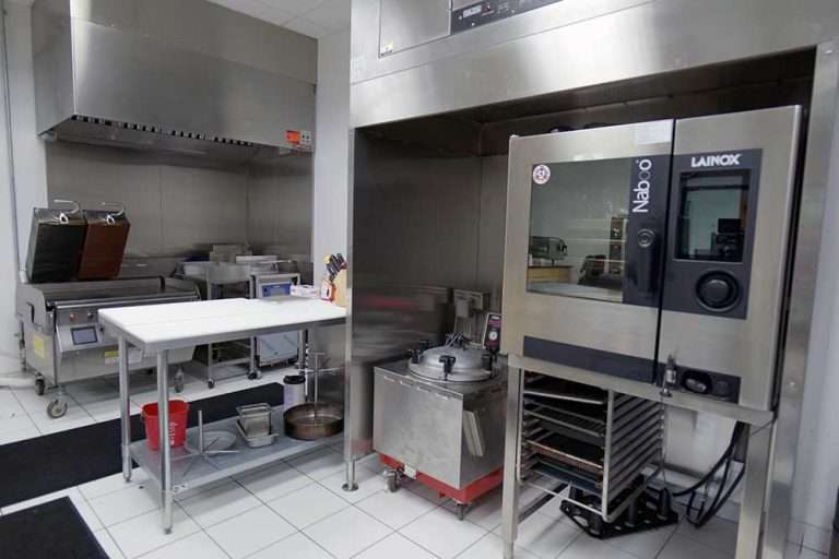TSBL test kitchen with our equipment, Taylor Grill, Broaster, Smokaroma and more.
