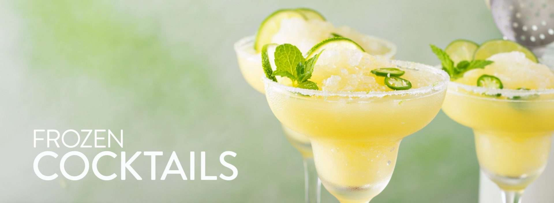 margaritas with text frozen cocktails