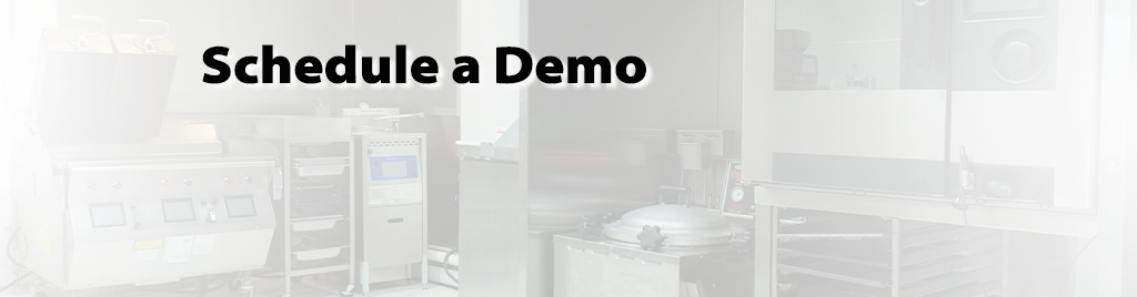 A kitchen demo background with text