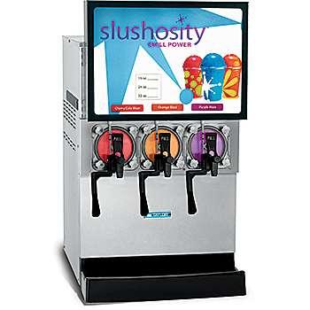 A three flavor Frozen carbonated Beverage equipment